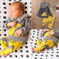 Girl Boy Casual Clothing 2pcs Outfits Set