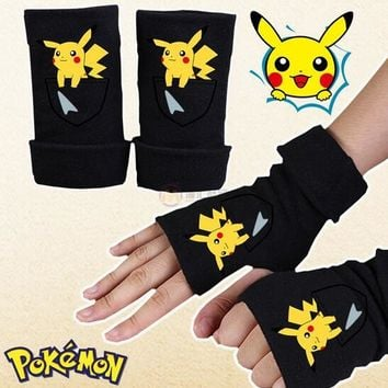 Cute Pikachu Cartoon Plush Cotton Gloves Cosplay Shooting props Charm Craft Gifts Cosplay Decor Party Gloves Supplies 95ZQ41