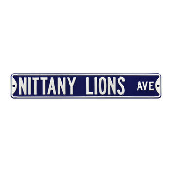 "Navy Penn State Nittany Lions 6"" x 36"" College Ave Embossed Street Sign"