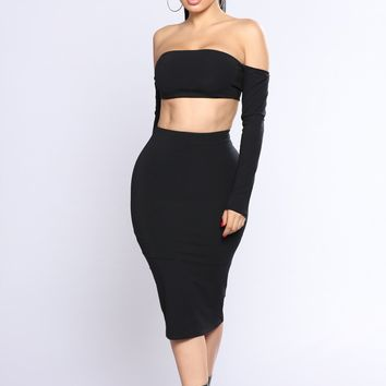 Livia Skirt Set - Black