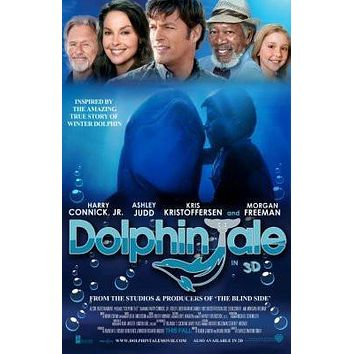 Dolphin Tale Movie poster Metal Sign Wall Art 8in x 12in