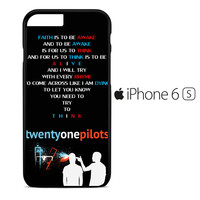 Twenty One Pilots - Car Radio Lyrics iPhone 6S Case