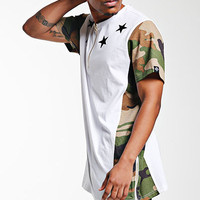 Camo&Star Extended Tee White