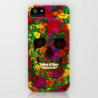 Rainbow Flower Skull Sugar Skull flower pattern apple iPhone 4 4s, 5 5s 5c, iPod 4,5 & samsung galaxy s4 case cover