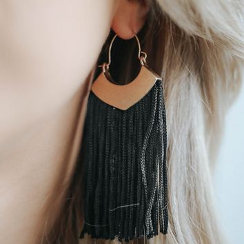 SPEAK EASY EARRINGS - BLACK