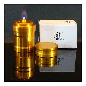The new Golden Dragon brand aluminum mini portable metal alcohol lamp