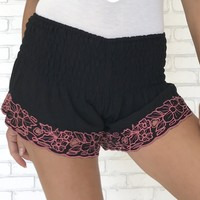 Rosie Pedal Shorts in Black