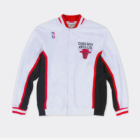 NBA Mitchell & Ness Chicago Bulls Vintage Warm-Up Jacket - White