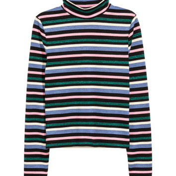 H&M Striped Mock-turtleneck Top $9.99