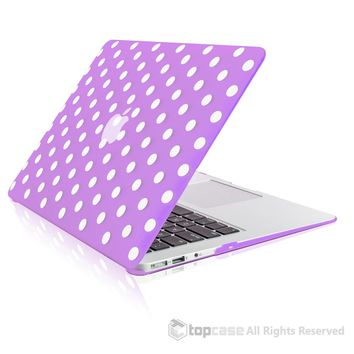 """Polka Dot Design Purple Ultra Slim Light Weight Hard Case Cover for Macbook Air 13"""" Model: A1369 and A1466"""