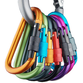 Aluminum Carabiner Camping Hiking Hook (Set of 5).