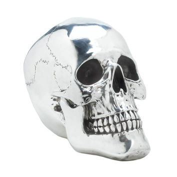 Skull Decorations, Skull Decor For Bedroom, Kid Smiling Silvery Decorative Skull