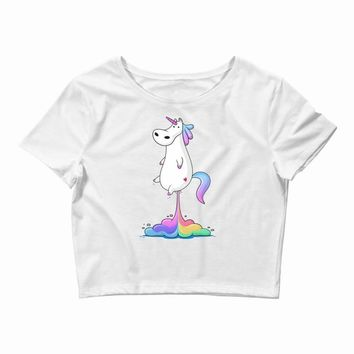 unicorn fart Crop Top