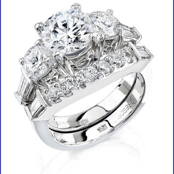 Gregorio 18K White Gold Diamond Engagement Ring and Band  R-221