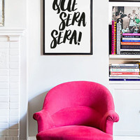Que Sera Sera - Modern Minimal Wall Art Brush Typography Inspirational Decorative Gallery Wall Printable Art