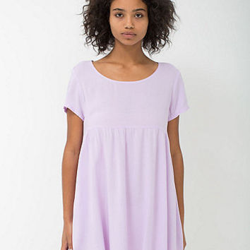 Rayon Babydoll Dress | American Apparel