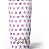 The Purple Grunge All Over Stars Yeti Rambler Skin Kit