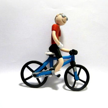 Cyclist with Broken Right Hand Ornament