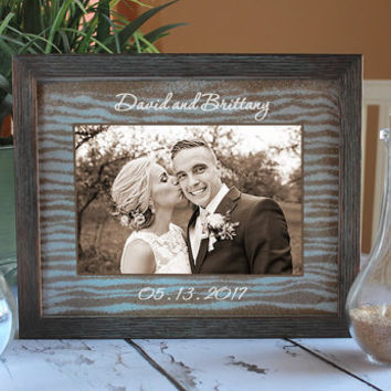 Unity Sand Ceremony Frame Set in Dark Barnwood Shabby Chic