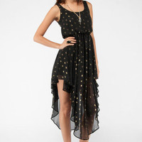 Lucky Stars Tank Dress in Black :: tobi