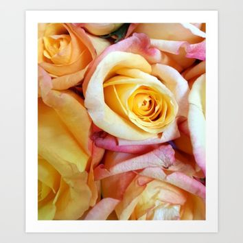 YellowRoses2 Art Print by Regan's World