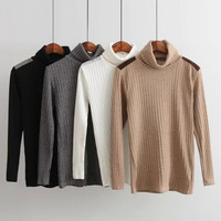 Turtleneck Knitted Stretch Sweaters