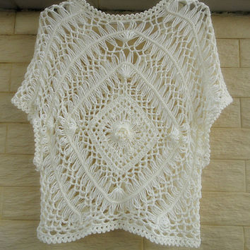hairpin crochet women boho top lace blouse beach cover up