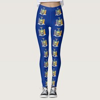 Leggings with flag of New York State, USA
