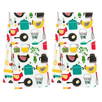 Betty's Kitchen Print Dishtowels - Set of 2