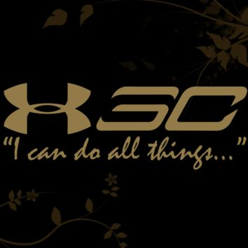 Stephen Curry I Can do all things Decal for your Car, Walls, Laptops