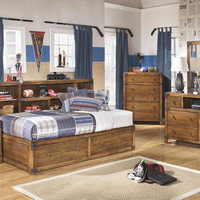 Burbank Big Bookcase Storage Bed