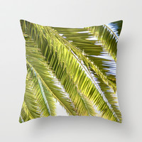 Palms Throw Pillow by Claire Jantzen