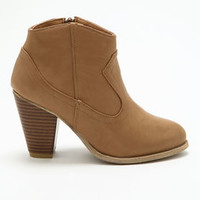 Stone Chunky Heel Booties - LoveCulture
