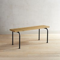Magnolia Home Rustic Plank Dining Bench