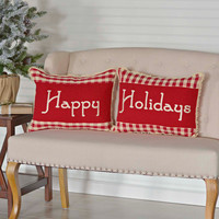 Happy Holidays Pillow Set