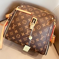 LV  New fashion monogram leather shopping and leisure shoulder bag handbag crossbody bag