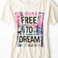 AEO 's Dream Graphic T-shirt (Chalk)