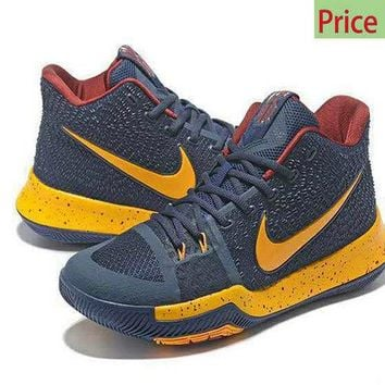 Spring Summer 2018 Legit Cheap Kyrie 3  Cavs Home Cleveland Cavaliers Navy Gold Red 2017 sneaker