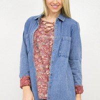 Denim Delight Pocket Tunic Top