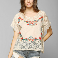 Kimchi Blue Embroidered Poncho Tee - Urban Outfitters