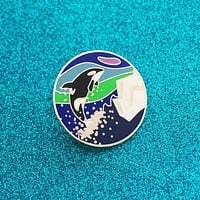 Iceland Orca, Northern Lights, and Glaciers Iceland Inspired Enamel Pin