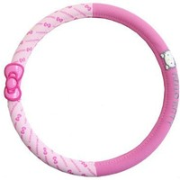 Hello Kitty Sanrio Bows Car Steering Wheel Cover