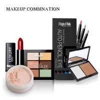 Brand Makeup Set Kit Concealer Cream Lip Stick Powder Mascara Cosmetic Base Primer Foundation Makeup Palette RP1-5