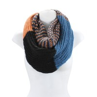 Thick Winter Infinity Scarf - Knit Circle Scarf for Women