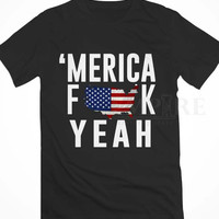 America Fuck Yeah Unisex/Men Tshirt All Size