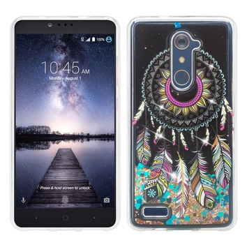 ZTE ZMAX Pro, Grand X Max 2, Blade X Max, ZTE Carry, Imperial Max, Max Duo LTE, Luxury Bling Liquid Glitter Case, Sparkle Quicksand Case - Dream Catcher