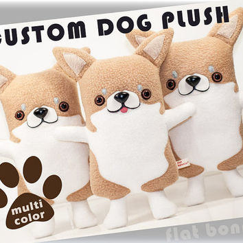 Custom dog stuffed animal, Stuffy toy of your puppy, Dog memorial plush, Personalized dog toy doll, Custom pet plushie clone, Dog lover gift