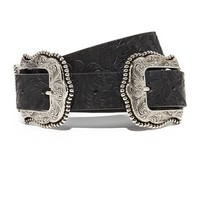 Dakota Blossom Large Double Buckle Belt