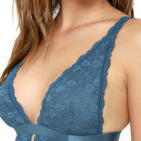 Way You Love Me Teal Blue Lace Bralette