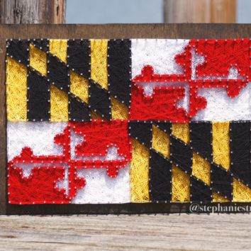 Maryland Flag / String Art